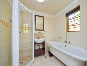 The quality of bathrooms at Avondhu Guest House bathrooms are equal to that of an upmarket business hotel.