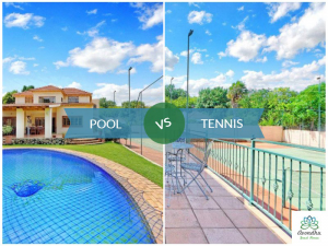 Avondhu Guest House has manicured gardens, a swimming pool and tennis courts for the exclusive enjoyment of their guests.