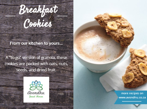 Avondhu Guest House Breakfast Recipe Oat Cookies