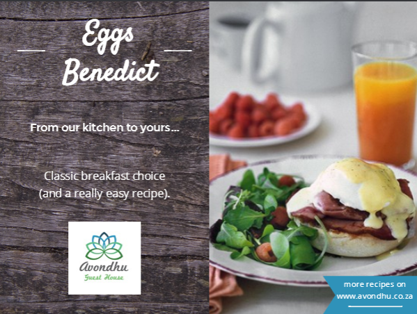Avondhu Guesthouse Breakfast Recipe Eggs Benedict