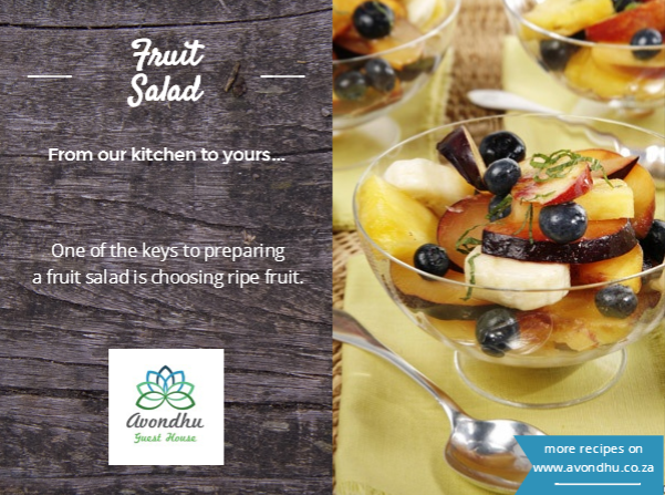 Avondhu breakfast recipe fruit salad